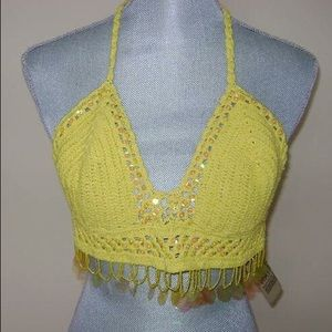 Tops - NWT - Crocheted Embellished Top